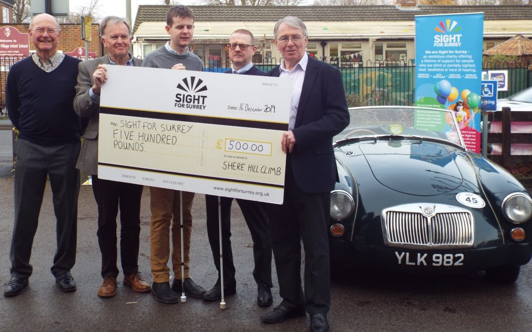Shere Hill Climb donates £500 to Sight for Surrey