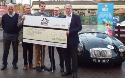 Shere Hill Climb donates £500 to Sight for Surrey