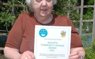 JOAN SCOOPS A COMMUNITY HERO AWARD!